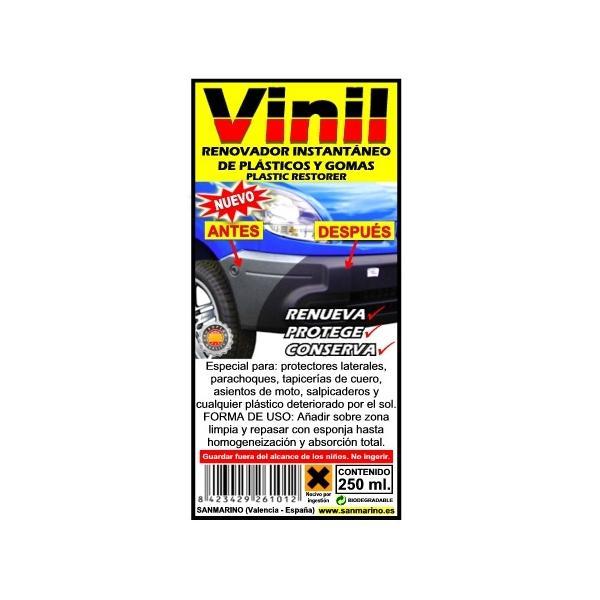 RENOVADOR DE PLÁSTICOS DETERIORADOS + ESPONJA 250 ML. - Sanmarino Online f31af288ee4f