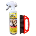 TEXTILE UPHOLSTERY CLEANER + BRUSH WITH GUN 500 ML.