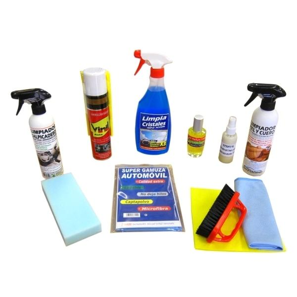 Kit limpieza interior de veh culos tapicer a piel sanmarino online - Kit de interior ...