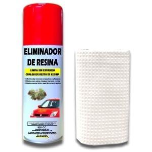 SPRAY ELIMINADOR DE RESINA DE ÁRBOL + BAYETA 520 CC.