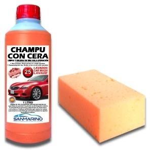 SHAMPOO WITH WAX + SPONGE 1 L.