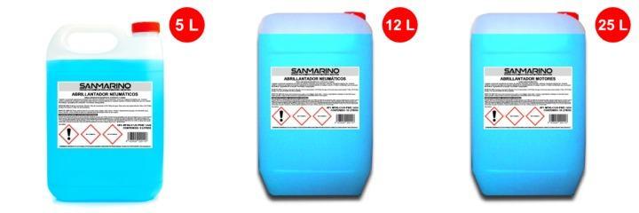 Productos para abrillantador neumáticos 5, 12 y 25 litros
