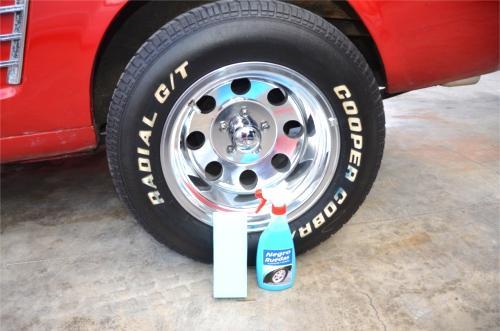 Abrillantador neumáticos coche
